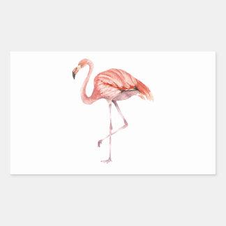 Adesivo Retangular Flamingo cor-de-rosa