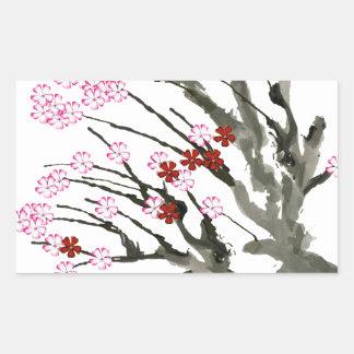 Adesivo Retangular flor de cerejeira 11 Tony Fernandes
