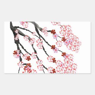 Adesivo Retangular Flor de cerejeira 18 Tony Fernandes