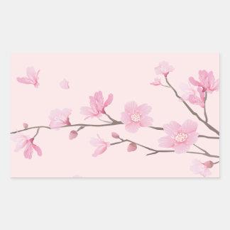 Adesivo Retangular Flor de cerejeira - rosa