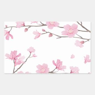 Adesivo Retangular Flor de cerejeira - Transparente-Fundo