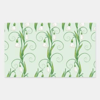 Adesivo Retangular Flores brancas de Snowdrop
