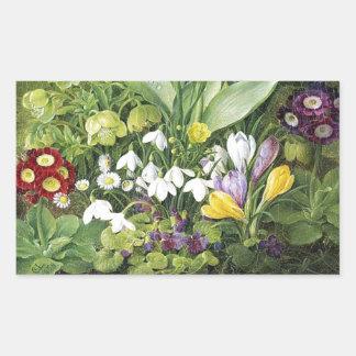 Adesivo Retangular Flores do primavera do Dutch