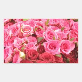 Adesivo Retangular Flores nas Filipinas, no rosa e nas rosas