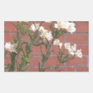 Adesivo Retangular Flores no tijolo