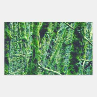 Adesivo Retangular Floresta verde