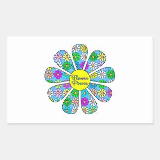 Adesivo Retangular Flower power feliz