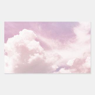Adesivo Retangular Flutuação em nuvens roxas macias