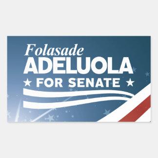 Adesivo Retangular Folasade Adeluola para o Senado
