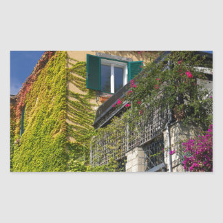 Adesivo Retangular Folhas coloridas na casa