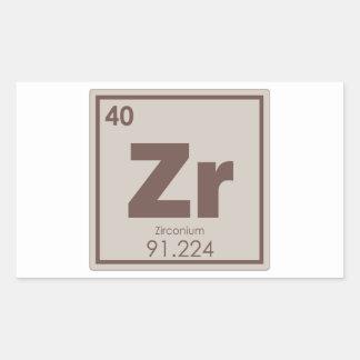 Adesivo Retangular Formul da química do símbolo do elemento químico