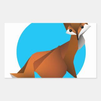 Adesivo Retangular Fox