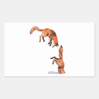 Adesivo Retangular Fox vermelho de salto