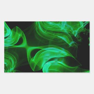 Adesivo Retangular Fractal verde do cetim
