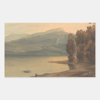 Adesivo Retangular Francis Towne - Windermere no por do sol