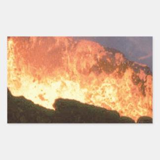 Adesivo Retangular fulgor do fogo vulcânico
