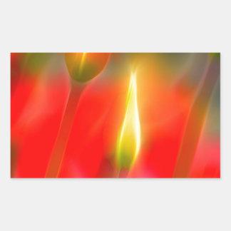Adesivo Retangular Fulgor vermelho e amarelo da tulipa