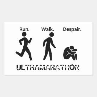 Adesivo Retangular Funcione o desespero da caminhada