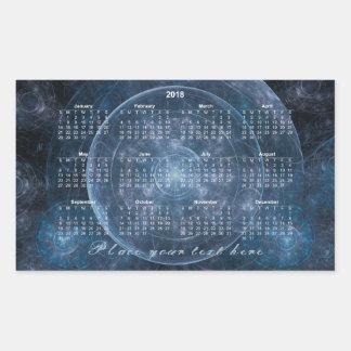 Adesivo Retangular Fundo 001 do cosmos - calendário 2018