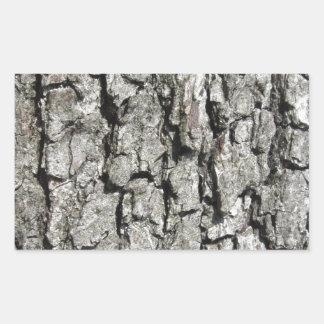 Adesivo Retangular Fundo da textura do latido de árvore da pera