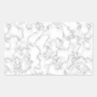 Adesivo Retangular Fundo de pedra marmoreado de mármore do branco
