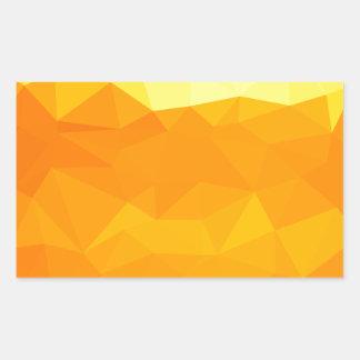 Adesivo Retangular Fundo do polígono do abstrato do amarelo do Cyber