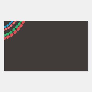 Adesivo Retangular Fundo do preto da colar de Maasai