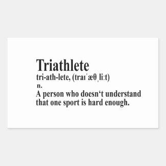 Adesivo Retangular Funny triatlo definição - bordadores
