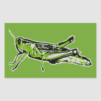 Adesivo Retangular Gafanhoto verde do pop art