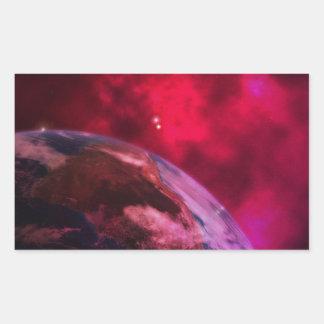 Adesivo Retangular Galáxia roxa 2 - purple galaxy