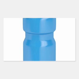 Adesivo Retangular Garrafa plástica azul