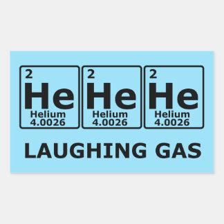 Adesivo Retangular Gás hilariante