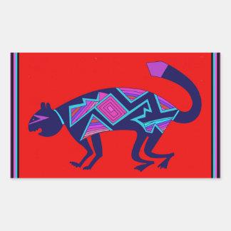 Adesivo Retangular Gato de Mimbres do sudoeste
