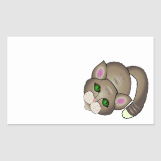 Adesivo Retangular Gato triste