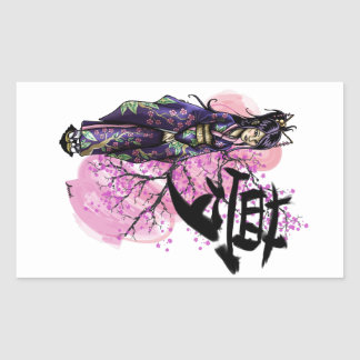 Adesivo Retangular Geisha