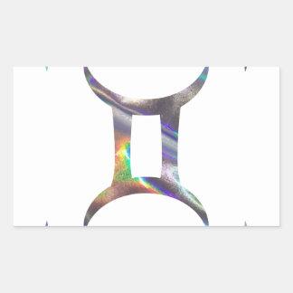 Adesivo Retangular Gêmeos do holograma
