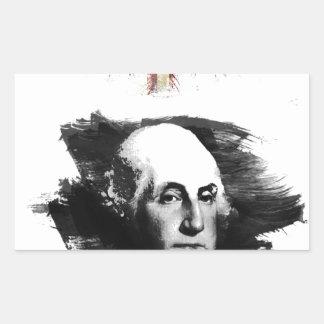 Adesivo Retangular George Washington