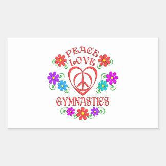 Adesivo Retangular Ginástica do amor da paz