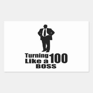 Adesivo Retangular Girando 100 como um chefe