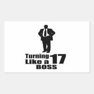 Adesivo Retangular Girando 17 como um chefe