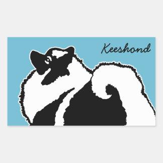 Adesivo Retangular Gráficos do Keeshond - arte original bonito do cão
