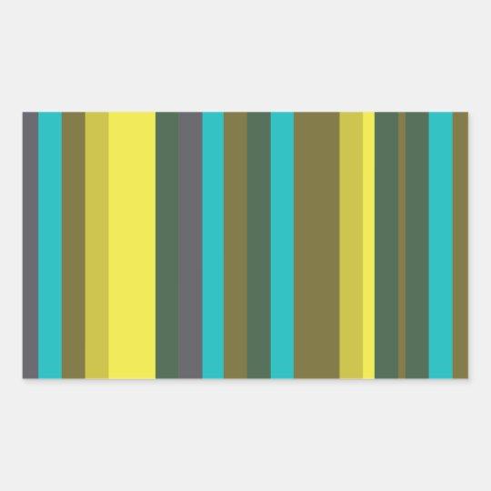 Adesivo Retangular Green_stripes