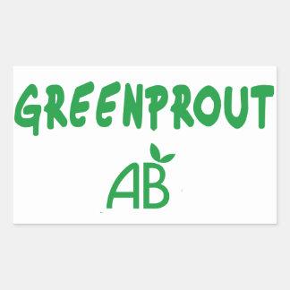 Adesivo Retangular Greenprout ecológico