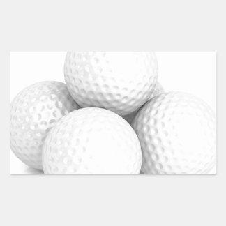 Adesivo Retangular Grupo de bolas de golfe