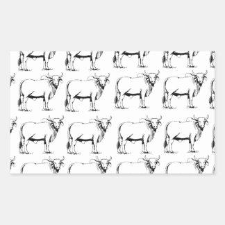 Adesivo Retangular grupo de touros maus