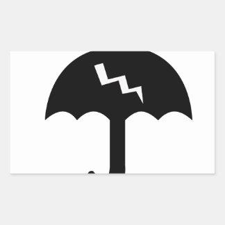 Adesivo Retangular guarda-chuva e iluminação