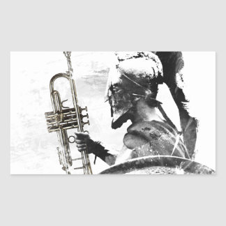 Adesivo Retangular Guerreiro da trombeta
