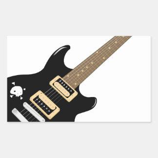 Adesivo Retangular Guitarra elétrica