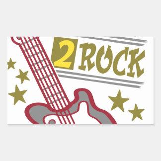 Adesivo Retangular Guitarra nascida da rocha, design do guitarrista