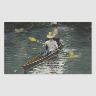 Adesivo Retangular Gustave Caillebotte - canoa no Yerres